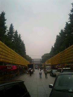 告示日の靖国神社