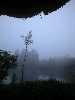 朝霧の湯布院の風呂